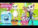 Говорящая Кошка Анжела Стирка Детские Мультики Мультфильмы для девочек и мальчиков Children TV