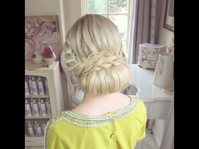 Braided Wedding Chignon by SweetHearts Hair