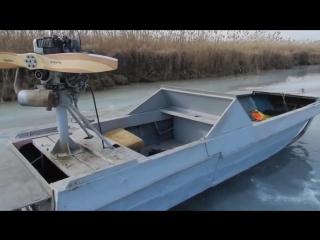 Катер для зимней рыбалки. Рыбалка в Астрахани