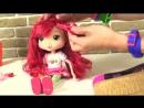 Мультики Шарлотта Земляничка! Парикмахерская для девочек - Плетение косичек МОНСТР ХАЙ кукольный театр