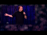 Humour. Louis CK - Getting Off the Airplane (Intermediate & Upper-)
