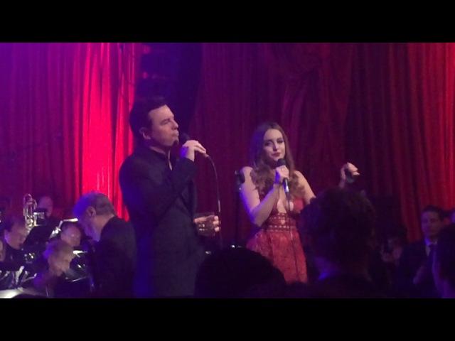 Seth Macfarlane and Liz Gillies xmas party 2016