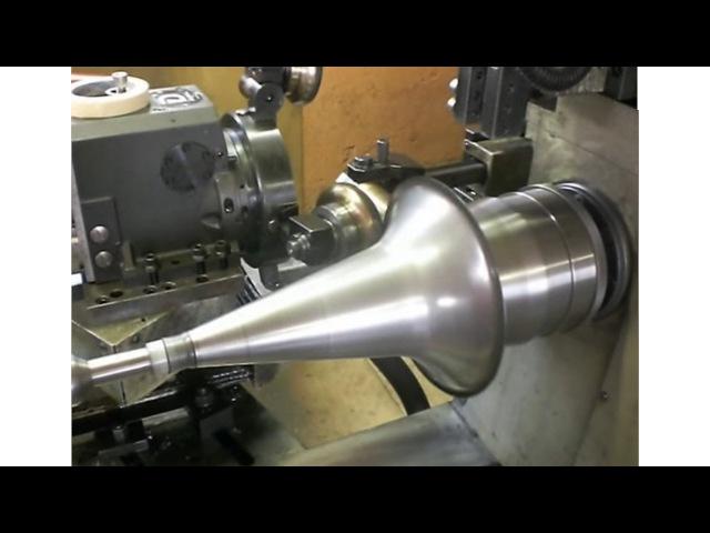 Ротационная вытяжка металла конус из листа стали