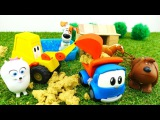 Videos for kids with toys. Leo the truck & excavator Max. Farm for 🐶 dogs. The secret life of Pets.