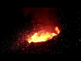Amazing Drone Fly over the active volcano in Reunion Island