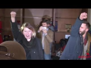 Активисты сорвали пресс-конференцию Мартина Сайдика