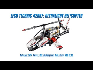 LEGO Technic 42057: Ultralight Helicopter Unboxing, Speed Build & Review [4K]