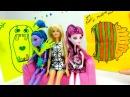 Хэллоуин. Видео для девочек. Куклы МОНСТР ХАЙ и БАРБИ. Подруги готовят открытку для Барби