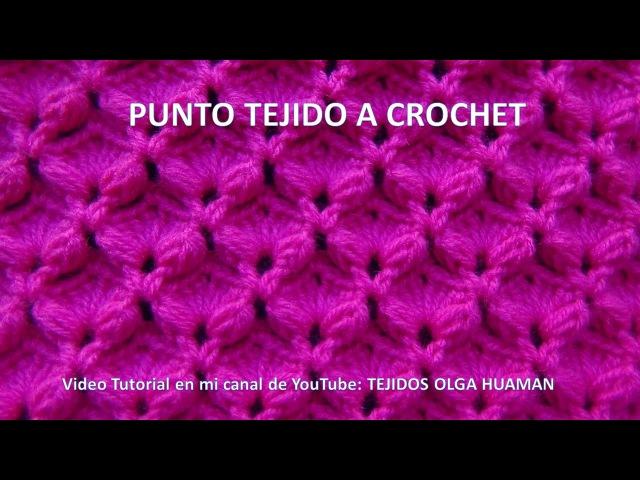 Punto tejido a crochet abanicos combinado con garbanzos en relieve para bufandas y cobijas para bebe