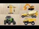 Пазлы Строительная и дорожная техника. Трактор, кран, экскаватор. Мультики про машинки