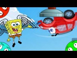 🐾 Машинка Вилли и Губка Боб #1! Побег на гоночную трассу! Мультик Игра. Про красную машину.