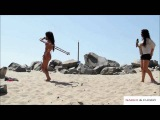 Flashing Boobs and Butts on the Beach From the Hula Hoops-Naked and Funny
