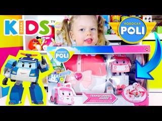 Робокар Поли Набор Эмбер Скорая Помощь | Robocar Poli Amber Set Toy Unboxing | Dana Kids TV