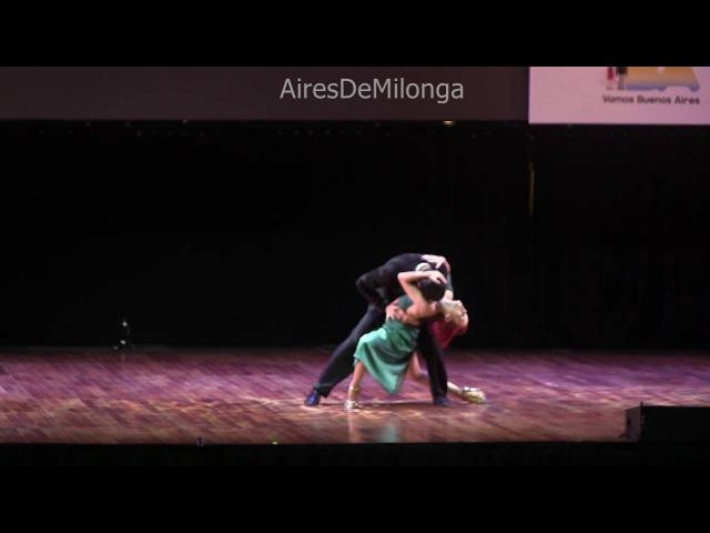 Mundial de Tango 2016 Final escenario, Axel Arakaki, Hebe Lucia Hernandez