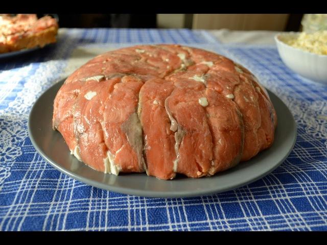 Салат из красной рыбы. Очень вкусный рецепт от канала Сибирский обычай