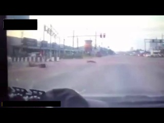 Cool moped rider somersaults to the hospital