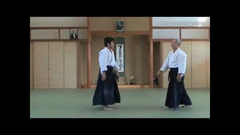 Ryotedori_Seishiro Endo Shihan(Kihon no Kata) 両手取り_遠藤征四郎 師範(基本の型)
