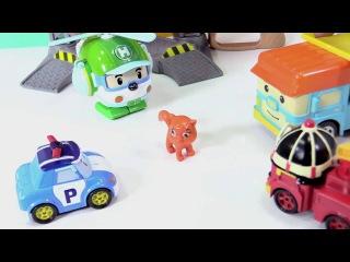 Robocar Poli et le chaton. Dessin animé educatif pour les enfants en français