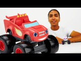 Blaze et les Monster machines sur la piste de course. Vid