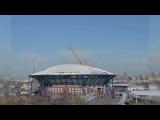 US Open Arthur Ashe Stadium Roof Time-lapse 2016