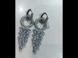 Шикарные серьги 💎цирконы алмазной огранки