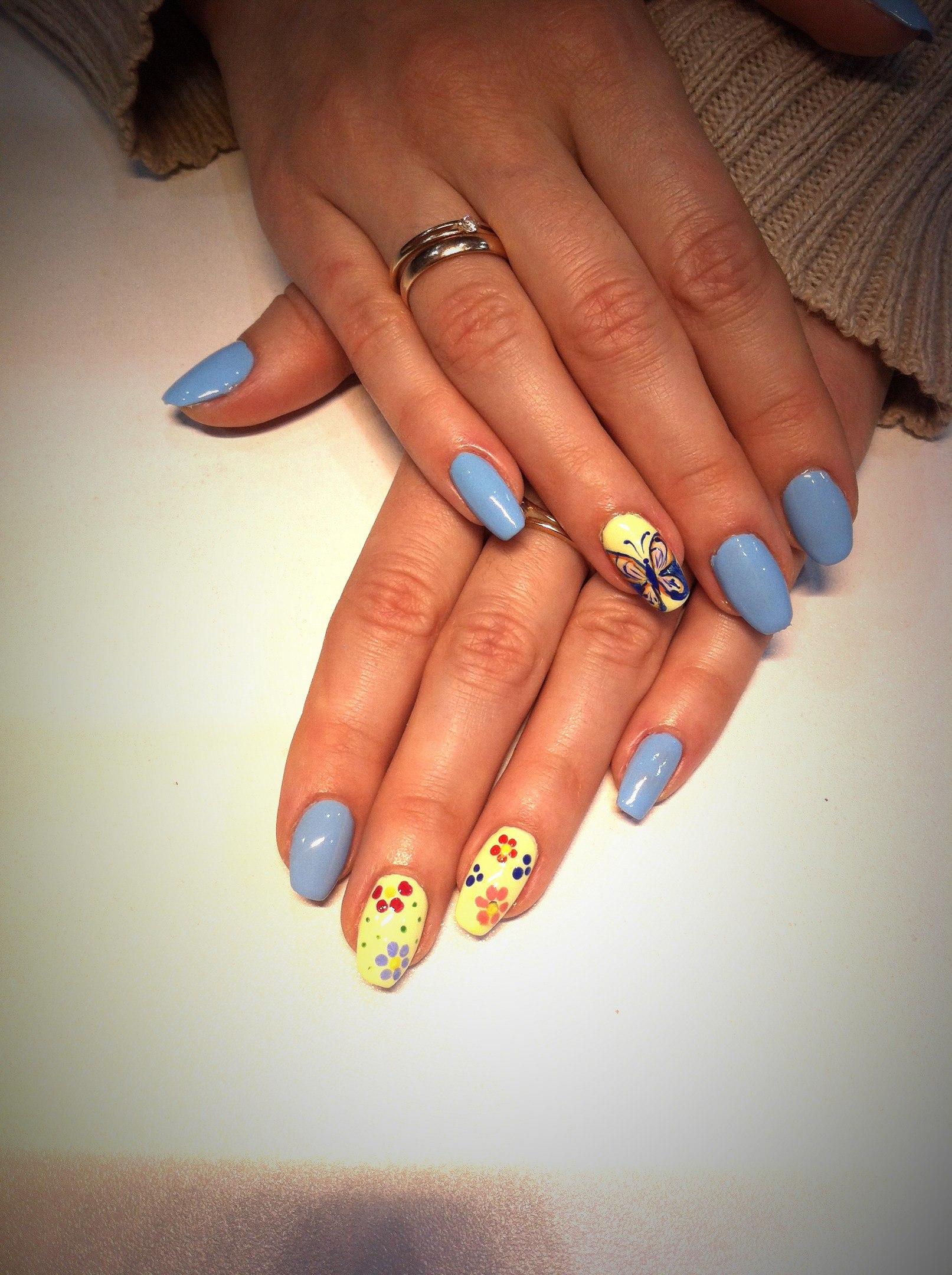 Красивые ногти с бабочками фото