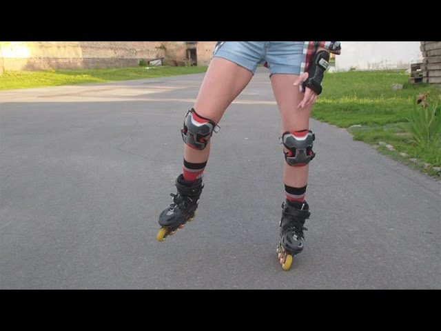 Передний ванфут: как ехать на одной ноге на роликах вперед. Урок 29