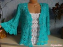 Жакет болеро крючком летний Комплект жакет топ юбка Knit crochet top jacket skirt bolero