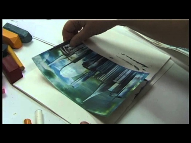 Encaustic - Anleitung Städte Landschaften / Encaustic - Introdution Cities landscapes
