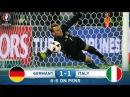 Oyuna ümumi Baxış Almaniya 1 1 İtaliya Özil 65 Bonucci 78 P Əsas oyun 1 1 Almaniya 6 5 İtaliyaya qalib gəldi