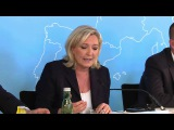 French far right leader Le Pen calls for a Europe 'a la carte'