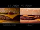 Еда из Макдоналдс в рекламе и в реальности