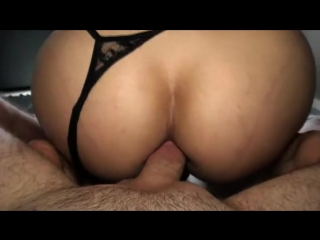 Naughty tranny in lingerie gets her ass banged bareback and creampied
