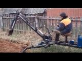 Местный Кулибин своими руками. Мини-трактор, мотоблок, переломка.