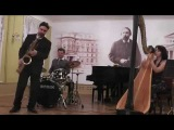 Blue Bossa - Kenny Dorham ( саксофон + арфа+ ударные)