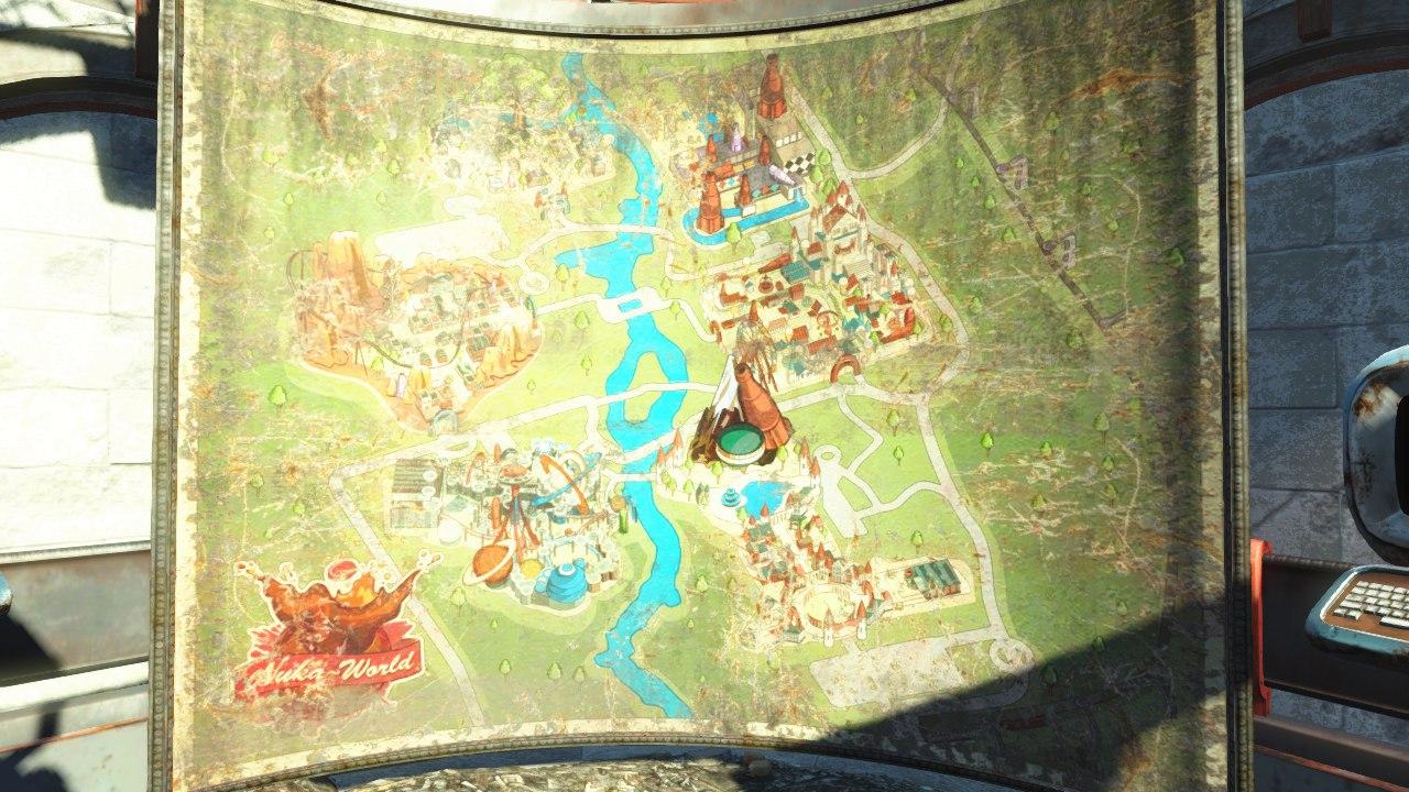 Карта из бета Fallout4 Nuka World от подписчика.