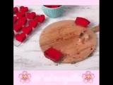 Кекс с сердечками внутри!
