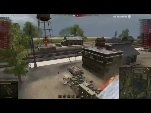 World of Tanks 14 фрагов на E25, последнего врага просто задавил, Лайв Окс - Стандартный бой