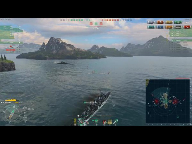 World of warships USS Fletcher просто хорош Z1ooo World of Warships
