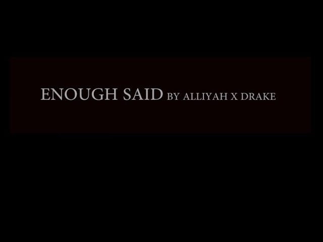 Alliyah x Drake - Enough Said (Choreo by Dens.tar)