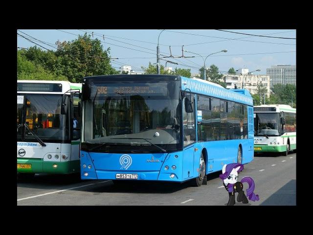 Поездка на автобусе МАЗ-203.069 М 853 ТЕ 777 Маршрут № 112 Москва