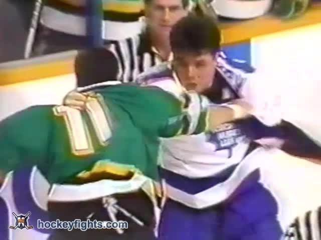 Basil McRae vs John Kordic Dec 16, 1989