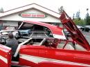 1958 FORD FAIRLANE 500 SKYLINER CONVERTIBLE SUPER RARE CAR . !