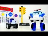 Spielzeugautos - Robocar Poli bringt Crusher die Verkehrsschilder bei