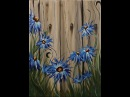 Summer Flowers on the Fence Step by Step Acrylic Painting on Canvas for Beginners