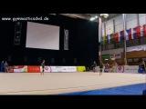Арина Аверина мяч (опробование) - Гран-При Брно 2016