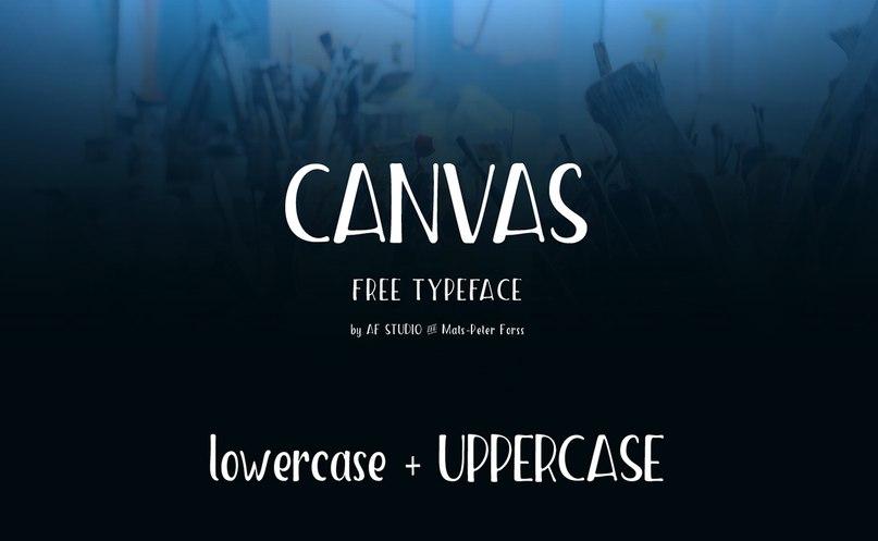 Canvas шрифт скачать бесплатно