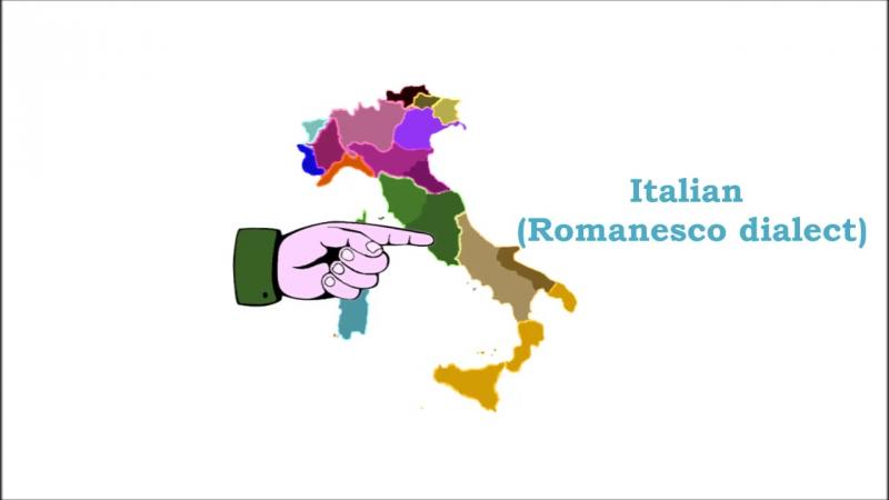 Lingue e dialetti presenti in Italia