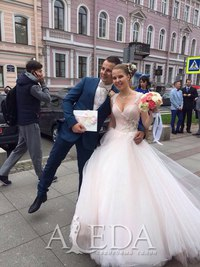 Наша 👰💍#невестаАледа #brideAleda Горская Надежда Татьяна в платье  👗 Аланис 😍 #gabbiano