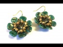 "Video Tutorial - DIY - Beaded Earrings ""Daisy"""